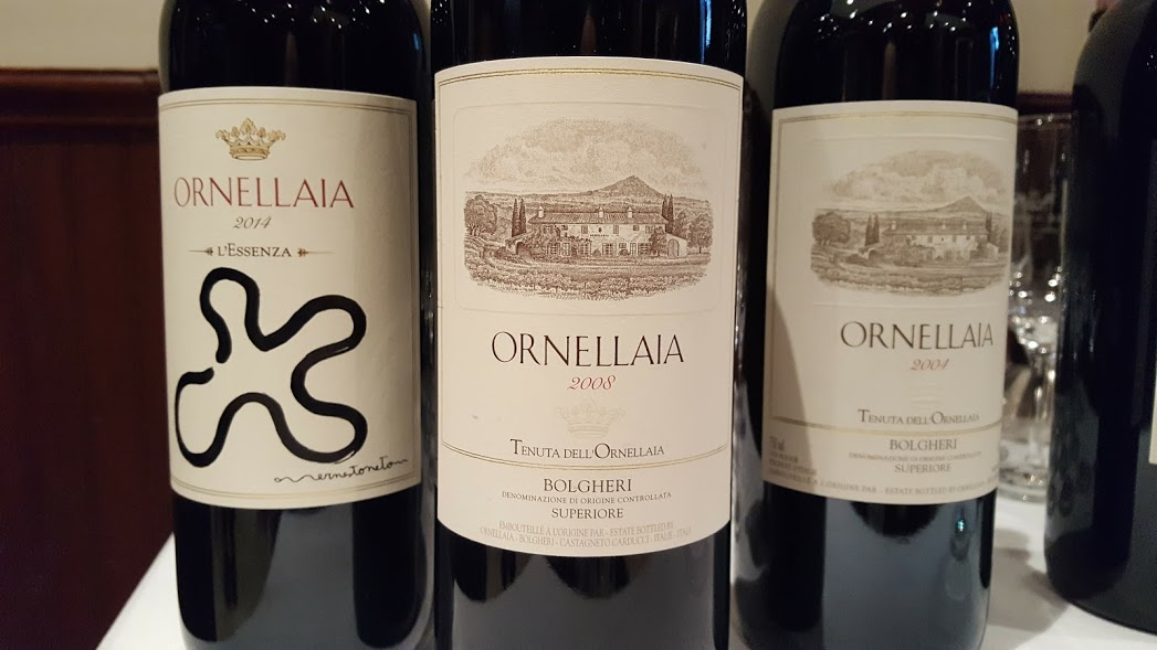 Vins Orneillaia restaurant La Medusa Mark Anthony wines