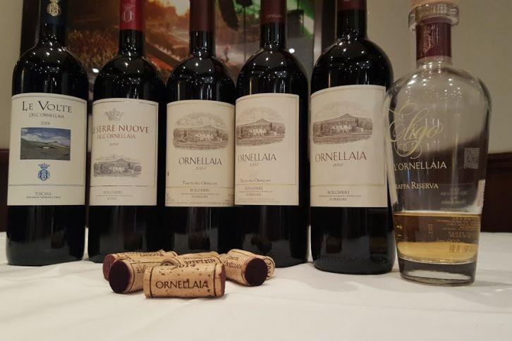 Vins Orneillaia restaurant La Medusa Mark Anthony wines