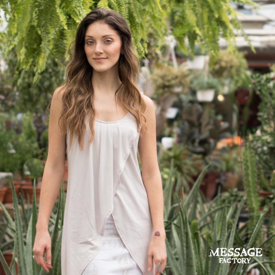 Message Factory robe Leila en bambou et coton biologique de la collection FLY