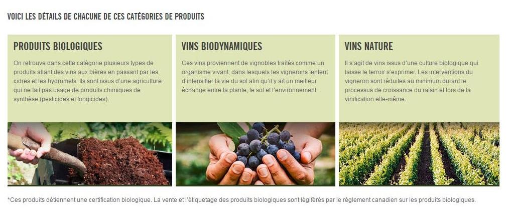 vin bio, vins biodynamiques vins nature SAQ