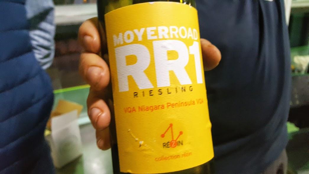 Slow Wine Montreal Salon des vins bio 2017 Moyer Road RR1 Stratus Riesling