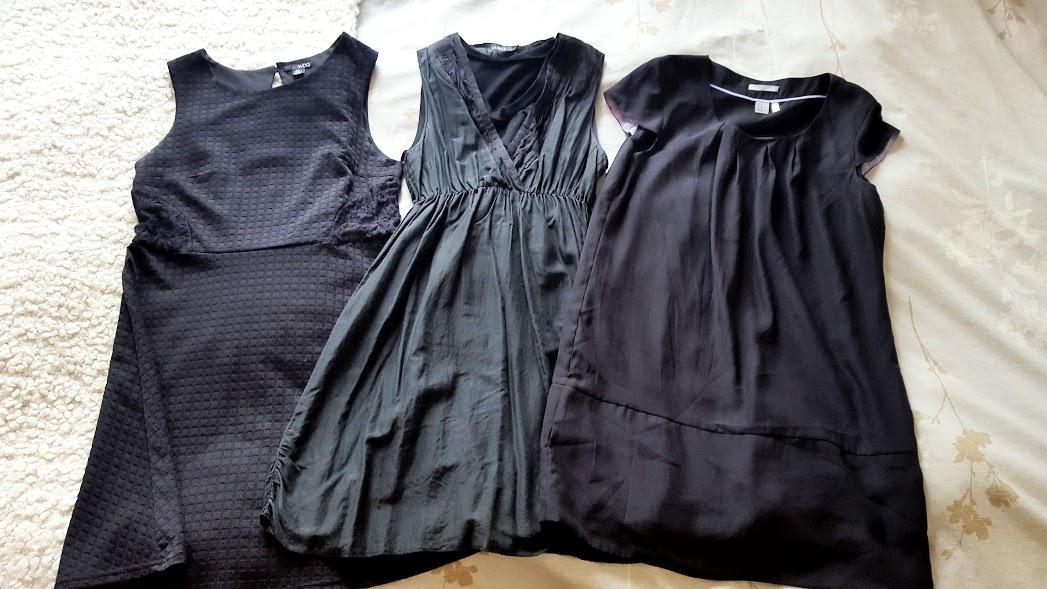 Petites robes noires trouvées dans des friperies, Montréal