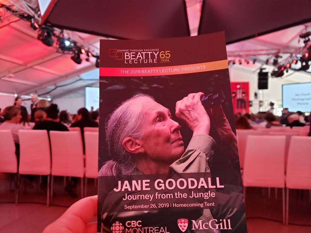 Jane Goodall, McGill University, Beatty Lecture 2019