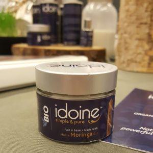 Crème hydratante Idoine aux ingrédients naturels découverte à l'Expo Manger Santé et Vivre vert