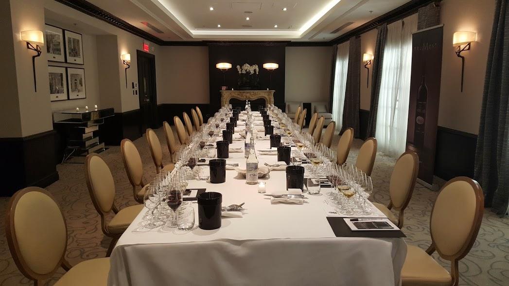 Dégustation de vins de la Maison Brumont au Ritz Carlton, Montréal