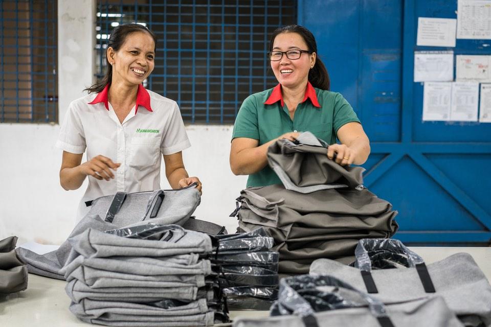 Everlane, usine de Ho Chi Minh City. Photo : www.everlane.com