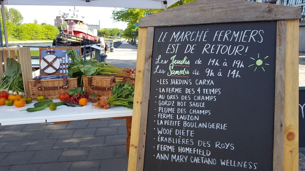 Marché des Éclusiers Marché fermier Vieux-Port Montréal