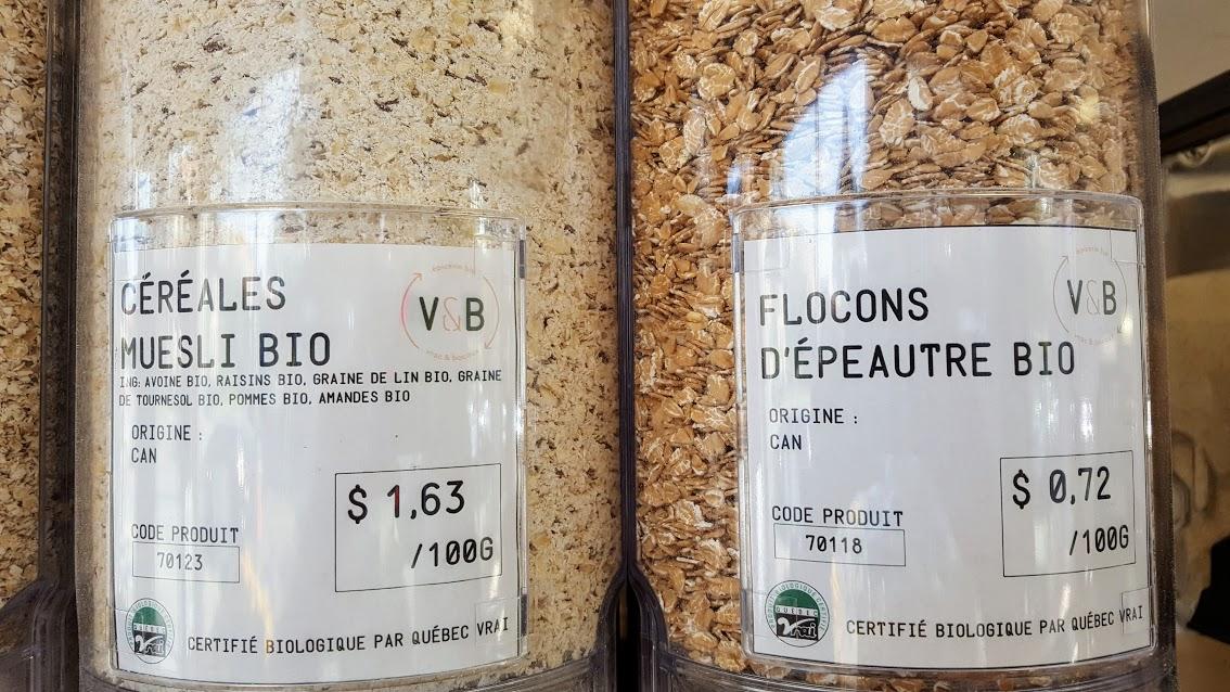 Épicerie zéro déchet Montréal Vrac & Bocaux