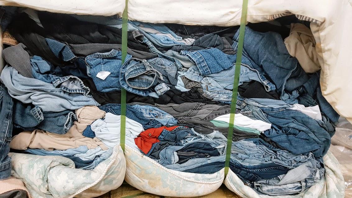 Vêtements usés, recyclage, Certex