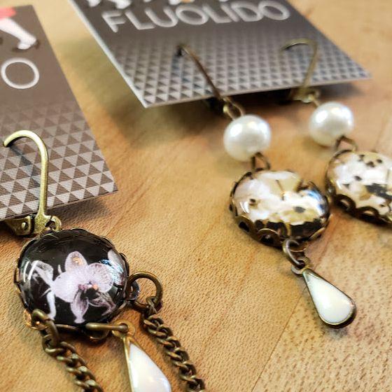 Cadeaux écoresponsables - boucles d'oreilles Fluolido
