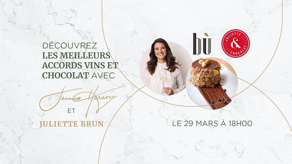 Inspiration de la semaine - Dégustation virtuelle Bù - Jessica Harnois et Juliette & Chocolat