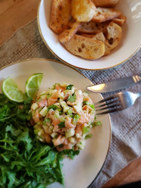 Inspiration de la semaine - Cook It tartare de saumon fumé et pomme verte